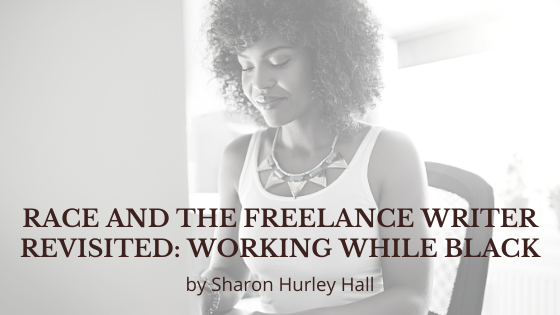 Race and the Freelance Writer Revisited—cover image (woman with laptop)