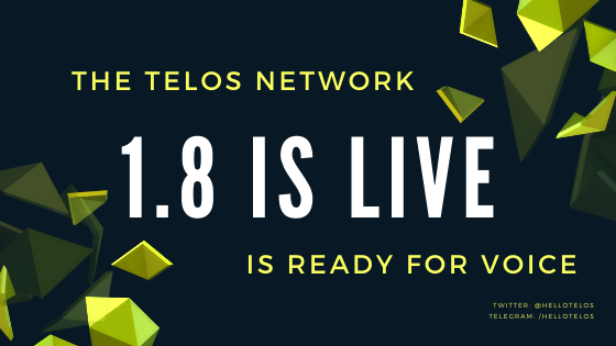 The Telos Network has activated version 1.8 of the EOSIO software.