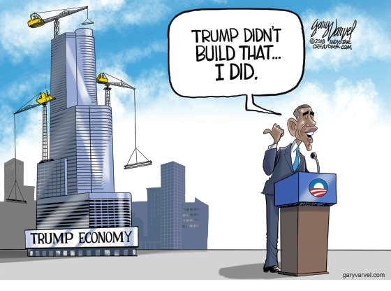 Obama claims the government built America.