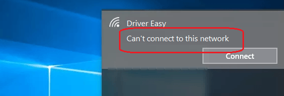 can't connect to wifi network