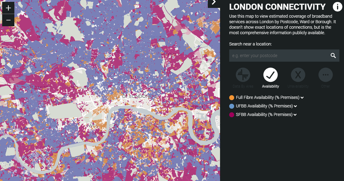 Full Map Of London.A Digital Connectivity Map For London But Government Needs To