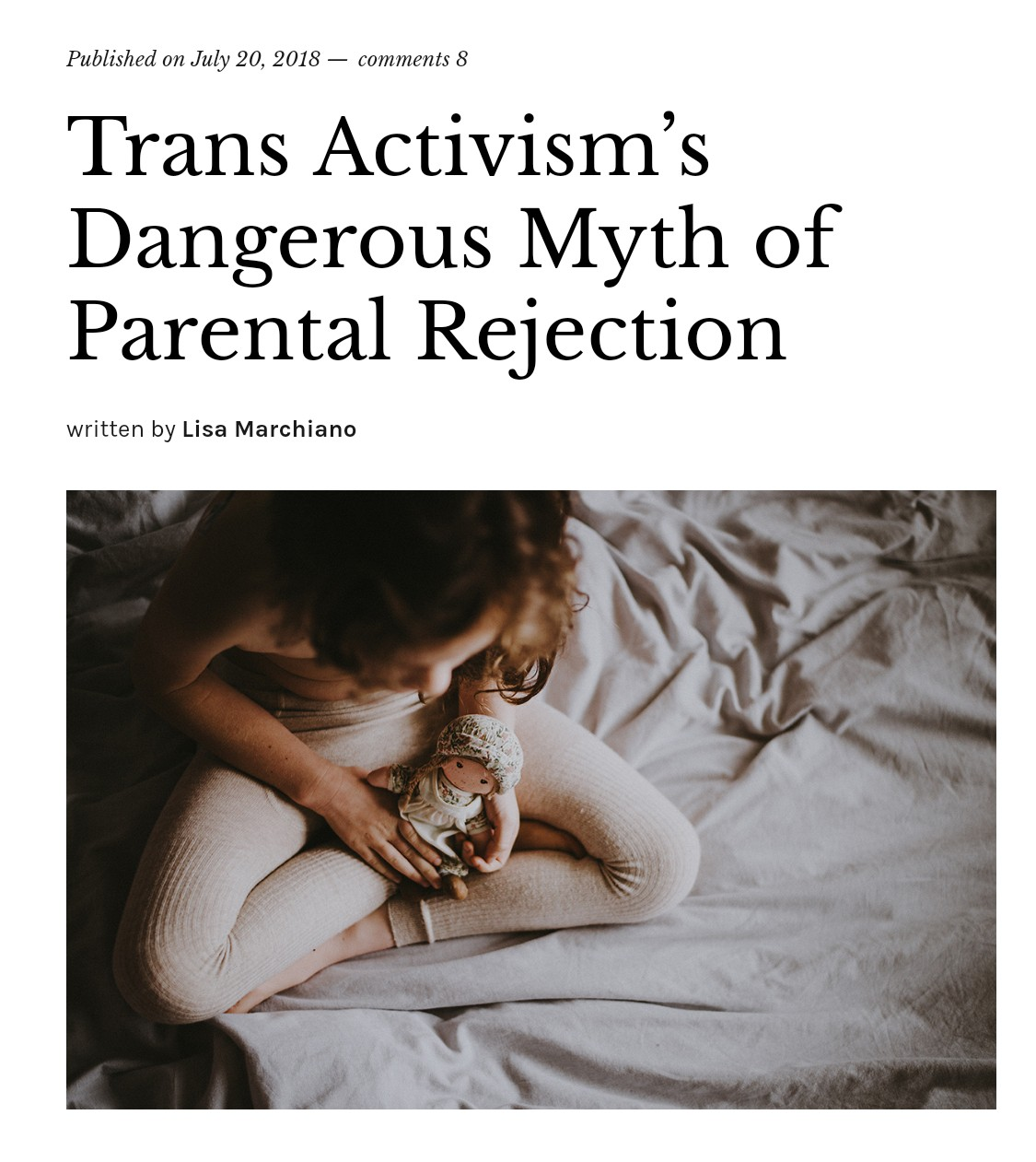 Lisa Marchiano: trans activism's dangerous myth of parental