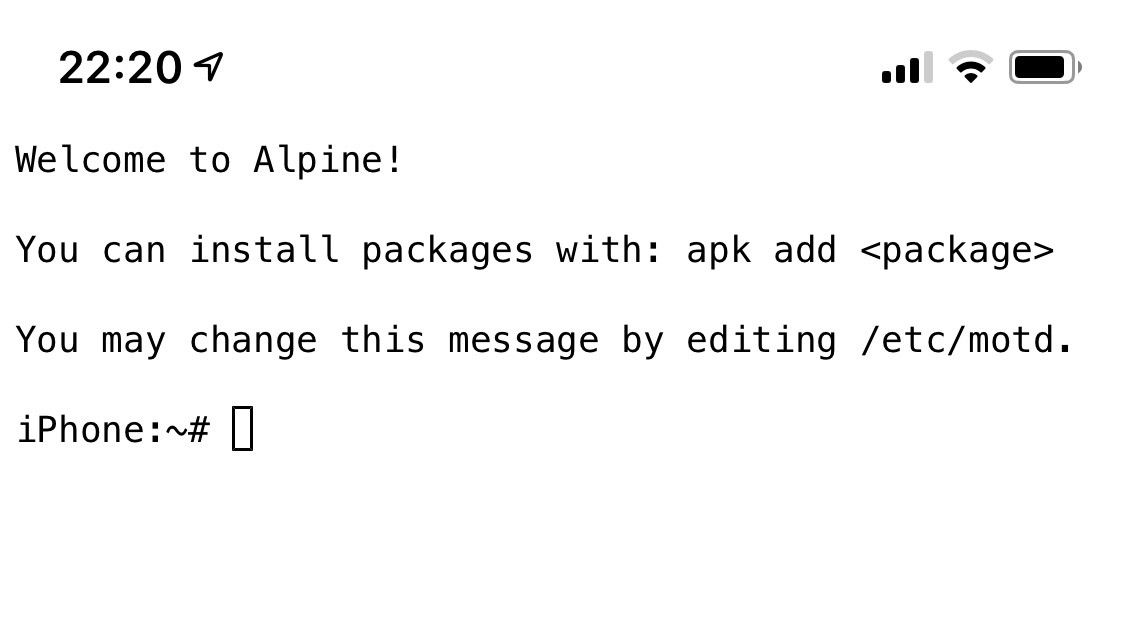 Run Alpine Linux on Your iPhone in Less Than 5 Minutes