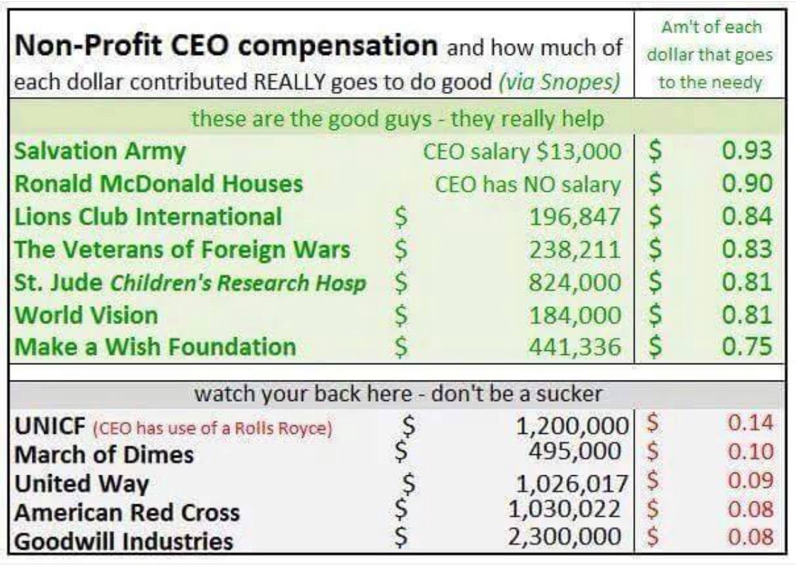 why do some ceos of nonprofits make so much money
