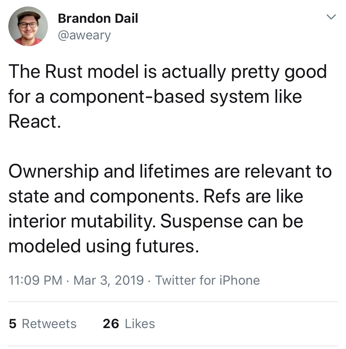 Moving from NodeJS to Rust in 2019 - Noteworthy - The