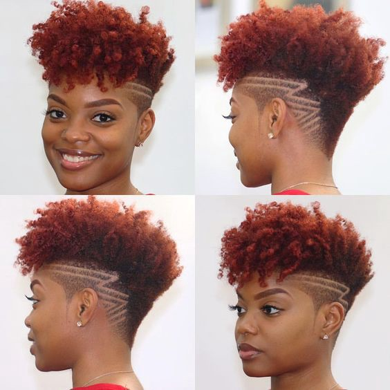 Low Cut Hairstyles For Black Females: African American Natural Hairstyles For Short Hair