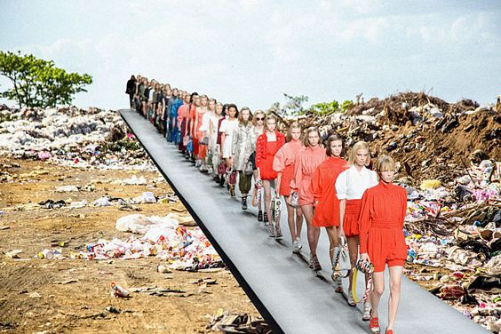 Clothing donation that don't sell or recycle end up in landfills.