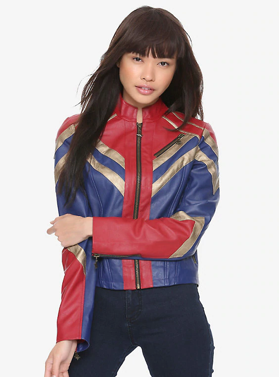 Brie Larson Captain Marvel Leather Jacket Carol Danvers Costume Outfit By Shahroz Khan Medium Whether you want to purchase a costume to go see the captain marvel movie or just be the lady captain superhero in your spare time then procosplay. brie larson captain marvel leather