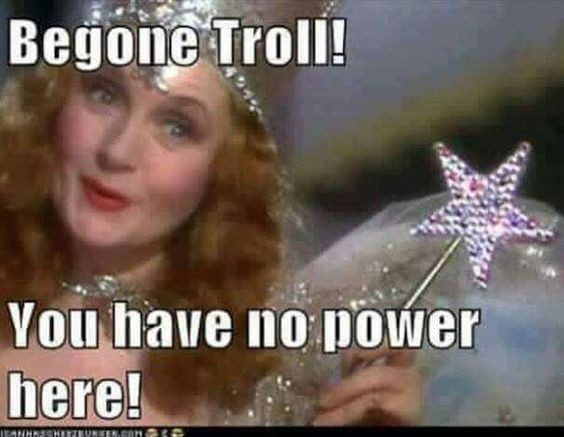 """Wizard of Oz"" film shot. ""Begone troll! You have no power here!"""