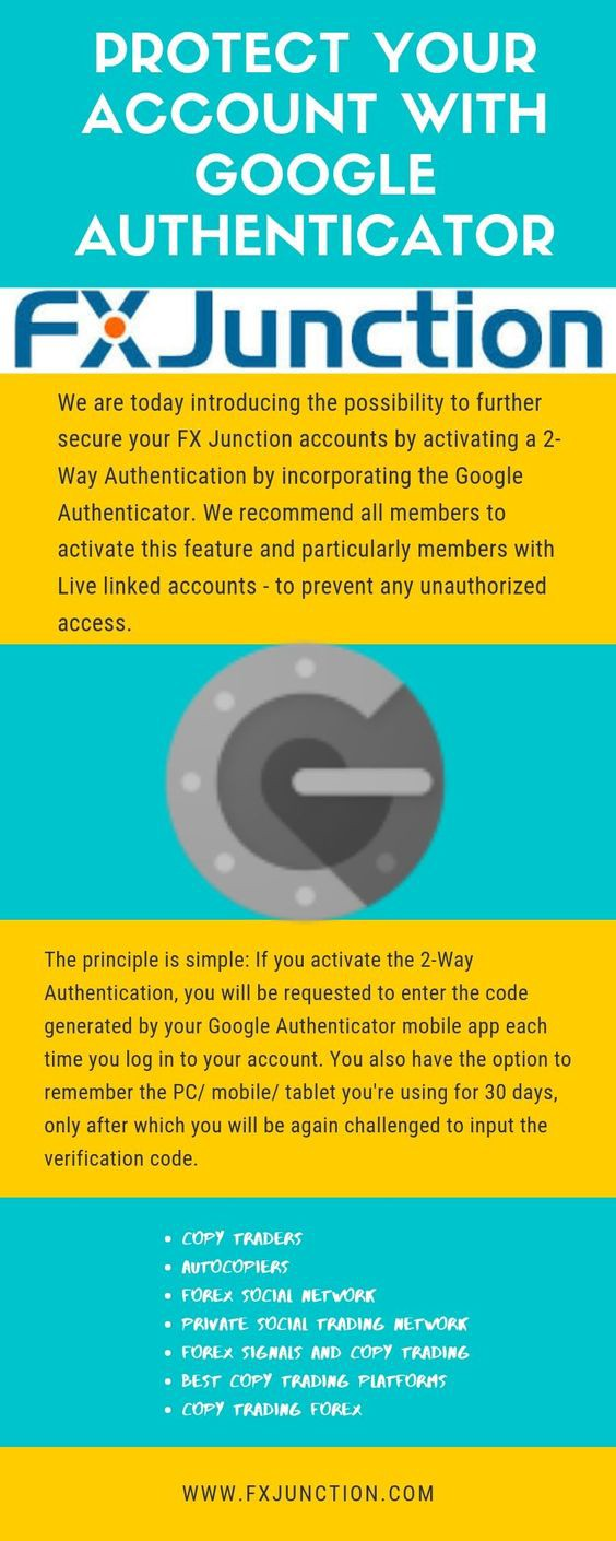 Protect your account with Google Authenticator - Fx Junction