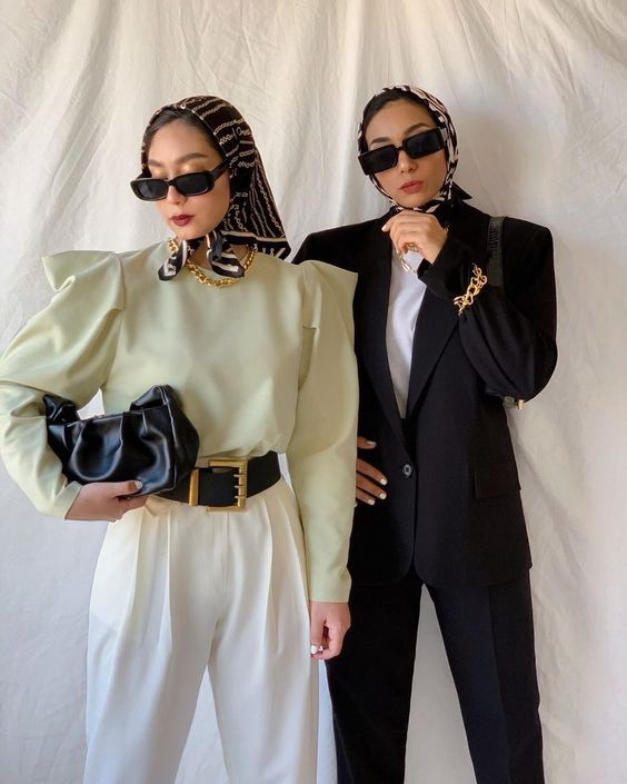 fashionable hijab and scarves