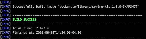 Spring Into Kubernetes Building the Image 1