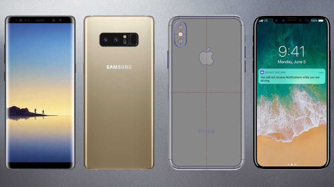 iPhone 8 Plus (and X) vs  Samsung Galaxy Note 8 — a non