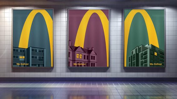 McDonald's new Out Of Home poster campaign