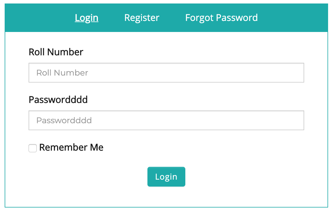Frontend Dashboard Custom Login