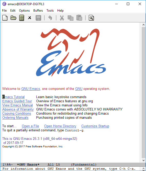 GNU Emacs 101. (With an admitted bias for Windows 10… | by Michael ...