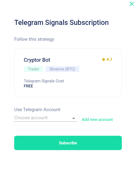 """Follow the step-by-step instructions, connect with our bot in Telegram, and click """"Subscribe""""."""