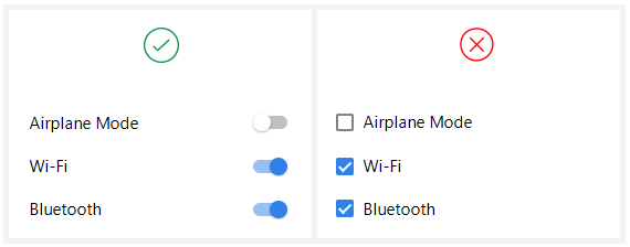 Checkbox vs Toggle Switch - UX Planet