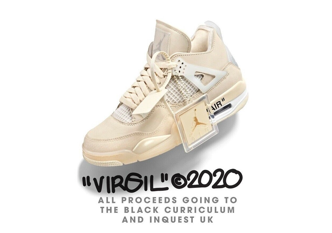 Ebay Charity Auction For Off White Air Jordan 4 Sells For 6 Figures By Terrence Whaley Sole360 Medium