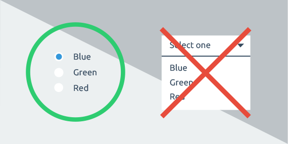 7 Rules of Using Radio Buttons vs Drop-Down Menus - Prototypr