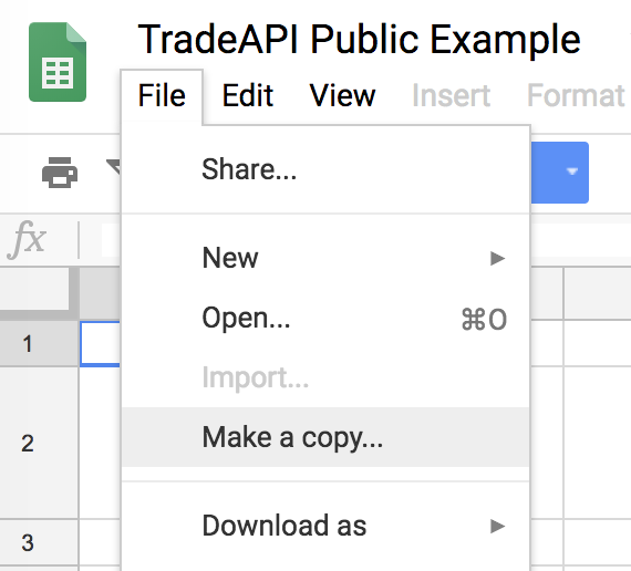 Manage Your Stocks from Google Spreadsheet Using API