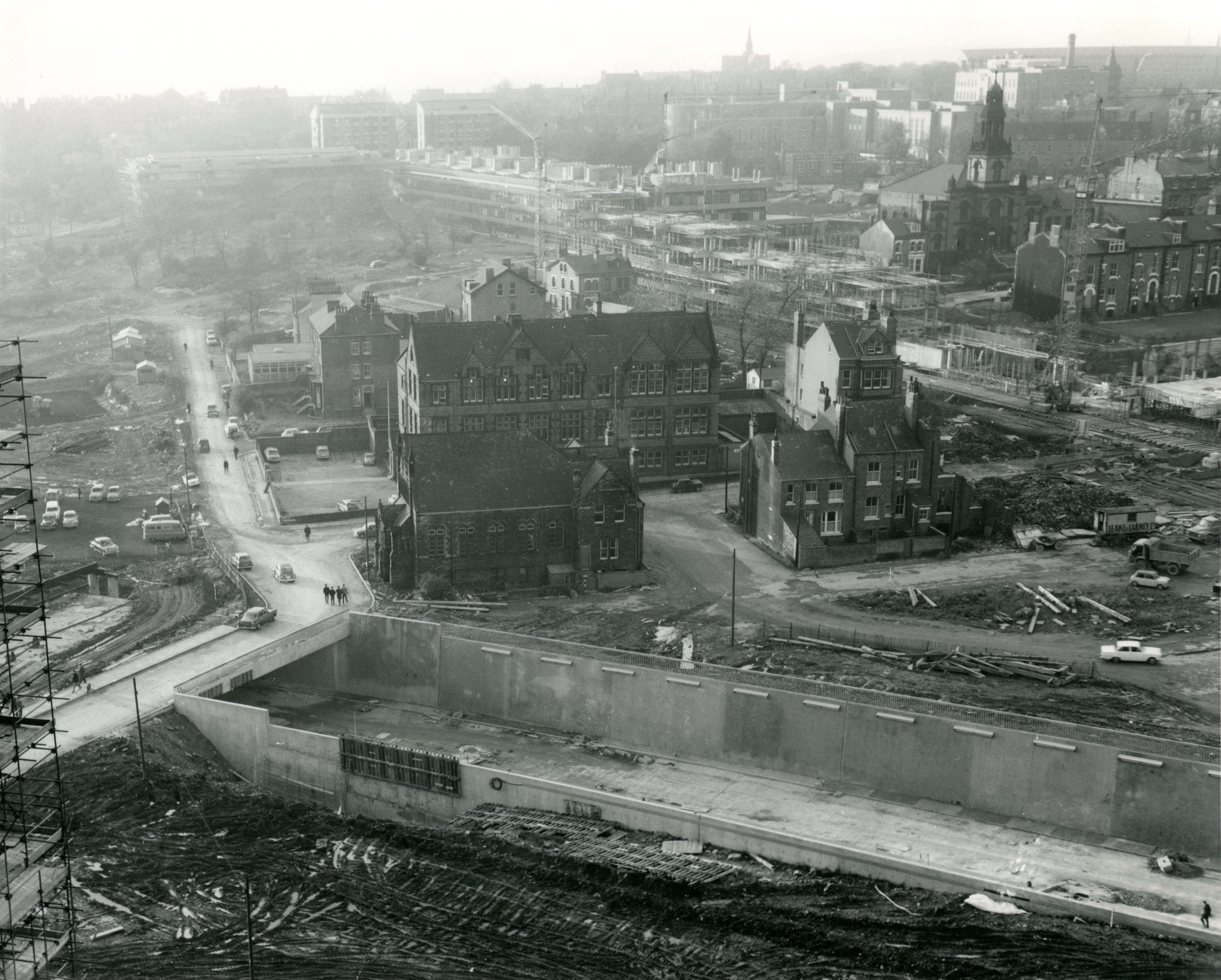 Leeds ring road under construction in the 1960s. Source: Leeds Civic Trust.