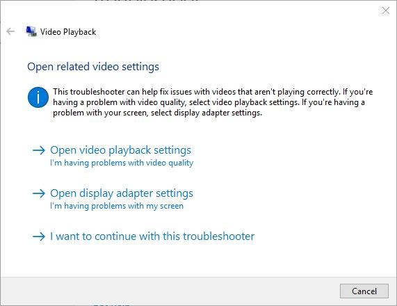 open related video settings