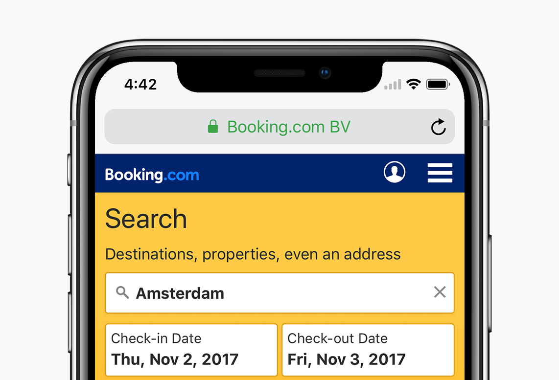 How we adapted the Booking com mobile site for the iPhone X
