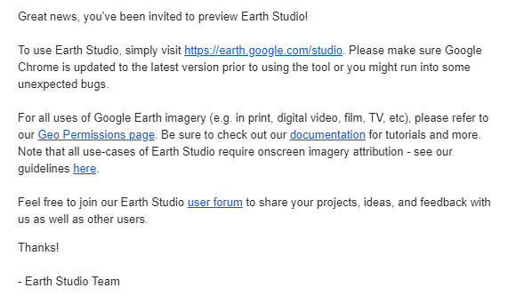 Earth studio google