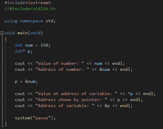 When the num integer variable is assigned to the p pointer, the value of the p pointer and its address in that value are equal to the value and address of num. The address of the p pointer (&p) holds its own address, it does not depend on the num variable.