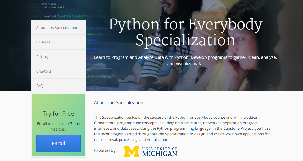 Python For Everybody Specialization By Mohamed Mansour Medium