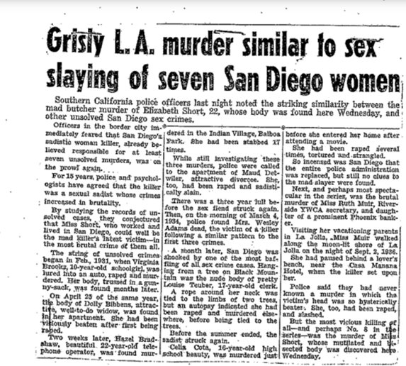 The 'Black Dahlia': Was Elizabeth Short the only victim?