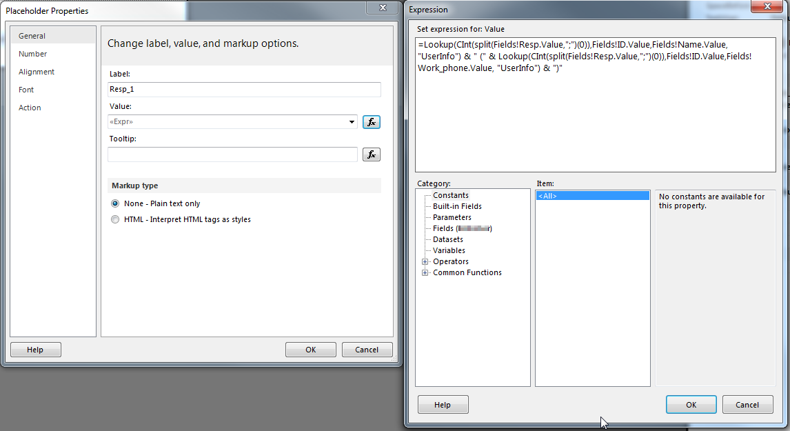 Format SharePoint Multi Value People Picker Field in SSRS Report