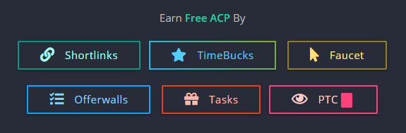 How to earn free ACP for faucet claims.