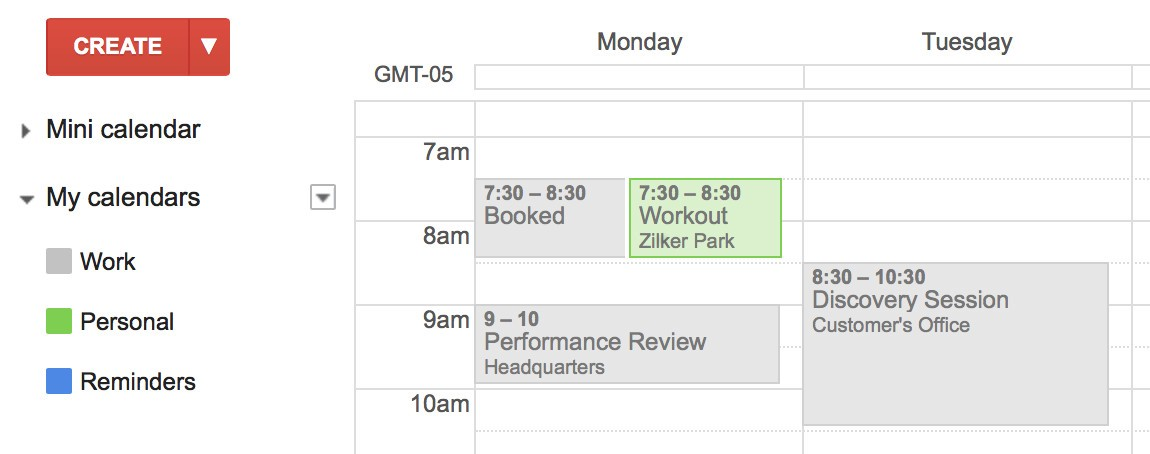 Auto Block Time on Your Work Google Calendar for Your