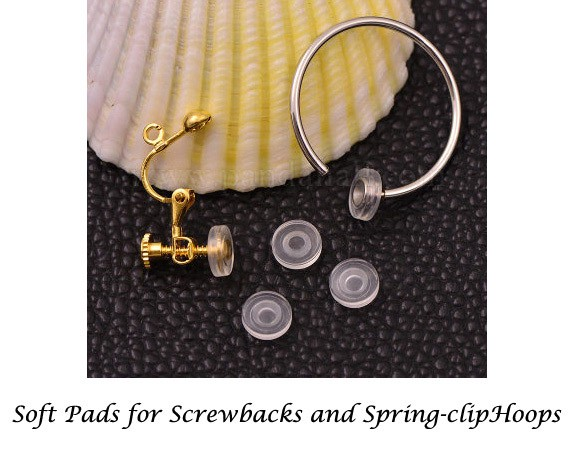 soft pads for hoops and screwback clips