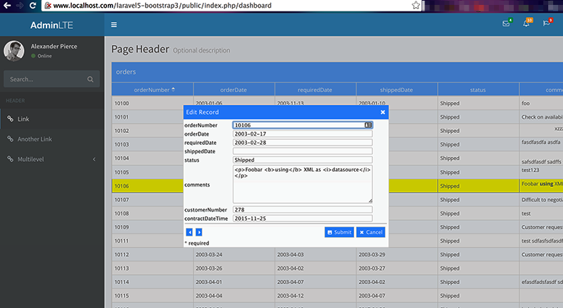 Gfy Live Demo Php Datagrid Control – Icalliance