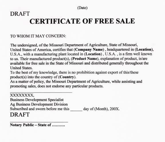 Step By Step Guide To Apostille Certificate Of Free Sale