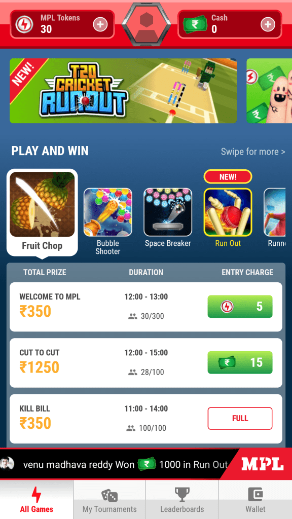 How To Play Tournaments In MPL Without Paying Any Money