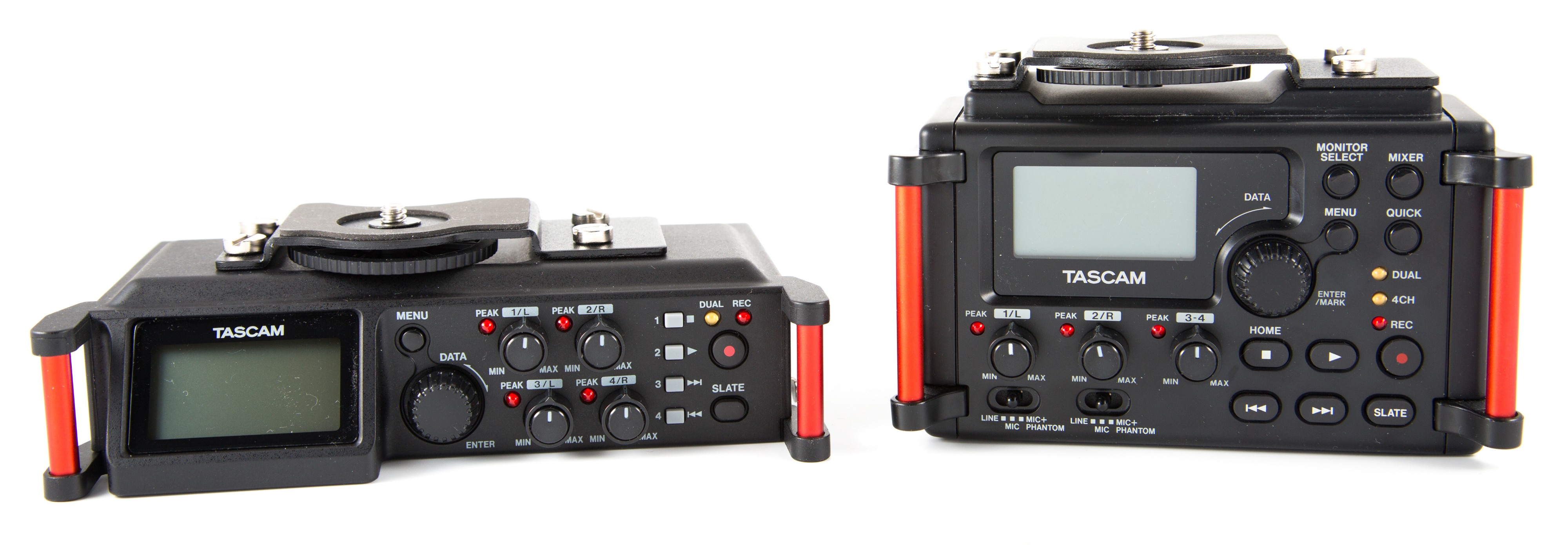 Affordable audio recorders comparison: Tascam DR-60D MKII vs