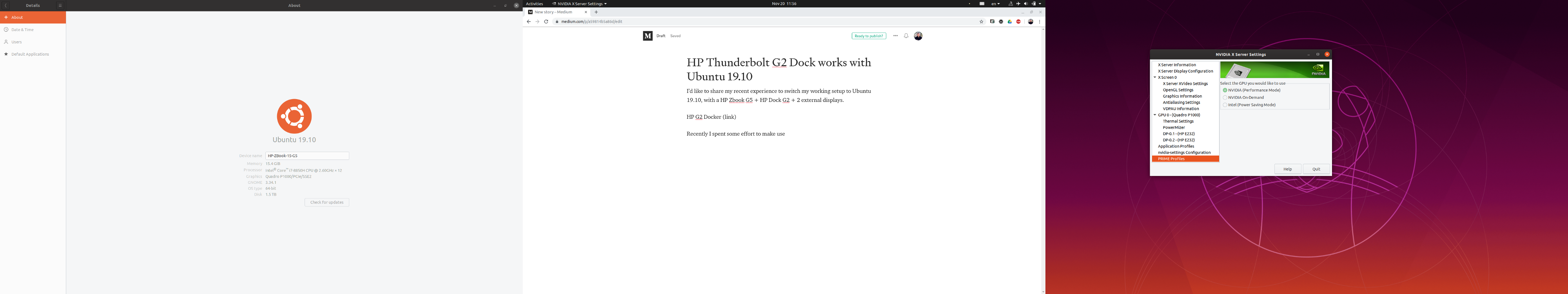 HP Thunderbolt G2 Dock works with Ubuntu 19 10 - Liejun Tao