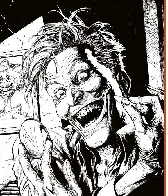Joker promo for Doomsday Clock.