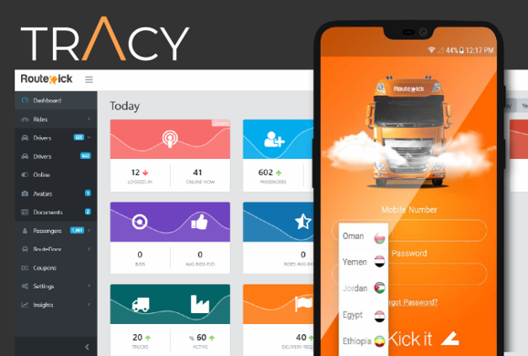 Tracy Route Kick mobile app