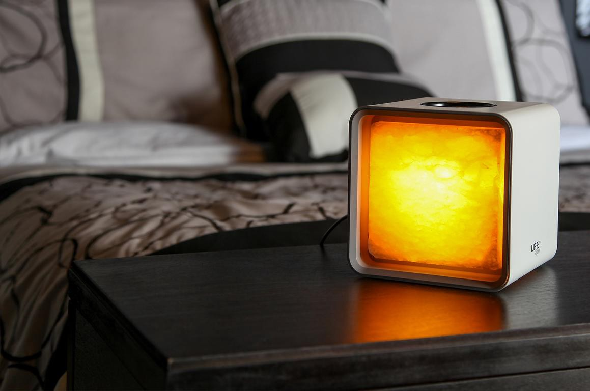 Parents Relaxation Black Better Health Best for Sleep Brighter Mood Perfect for Home Decor and Gifts for Home Enthusiasts Moms and Dad Zencube The World/'s First Himalayan Salt Lamp