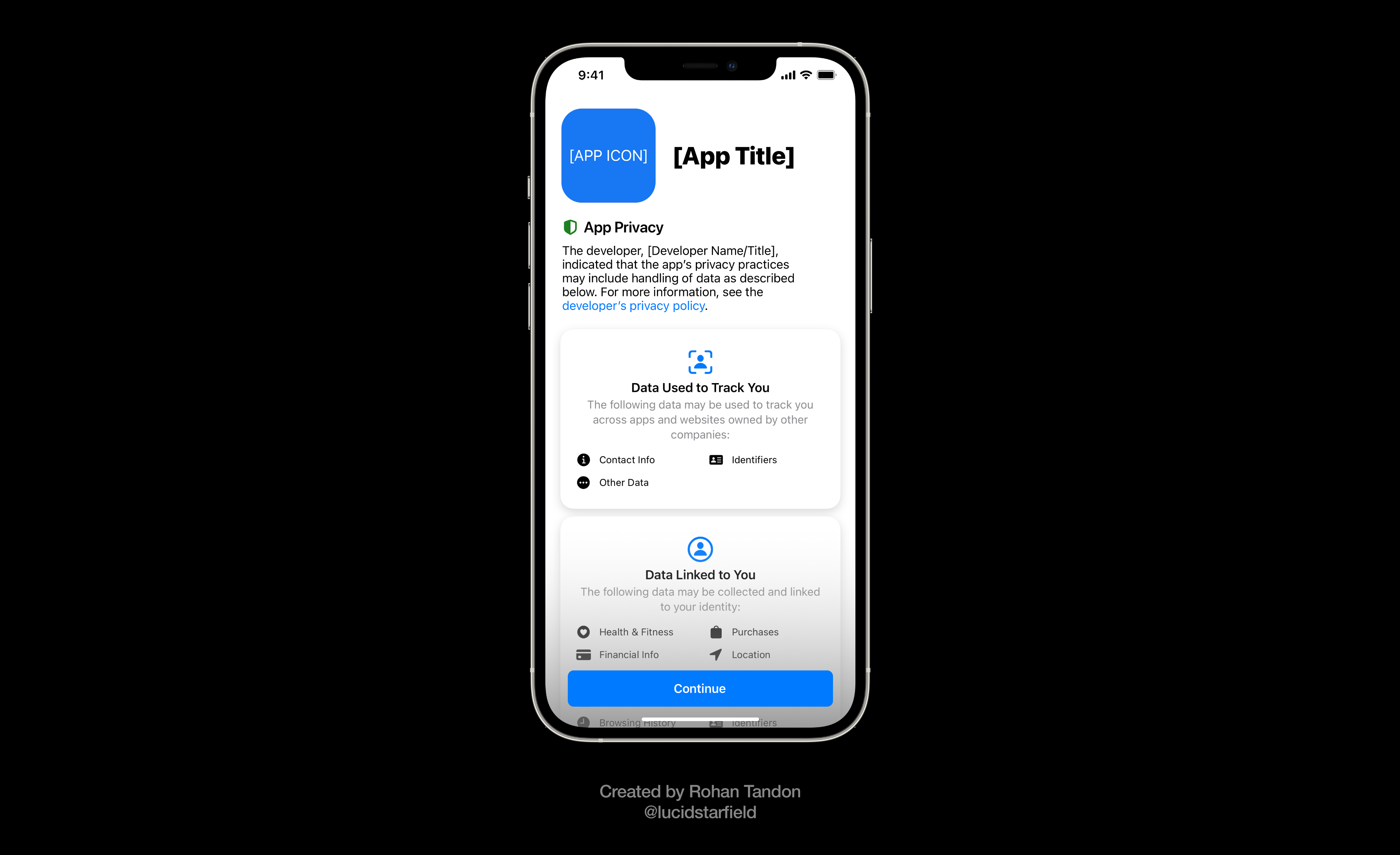 iOS 15 Aurora conceptualizes privacy splash screens that would often remind users of the respective app's privacy practices.