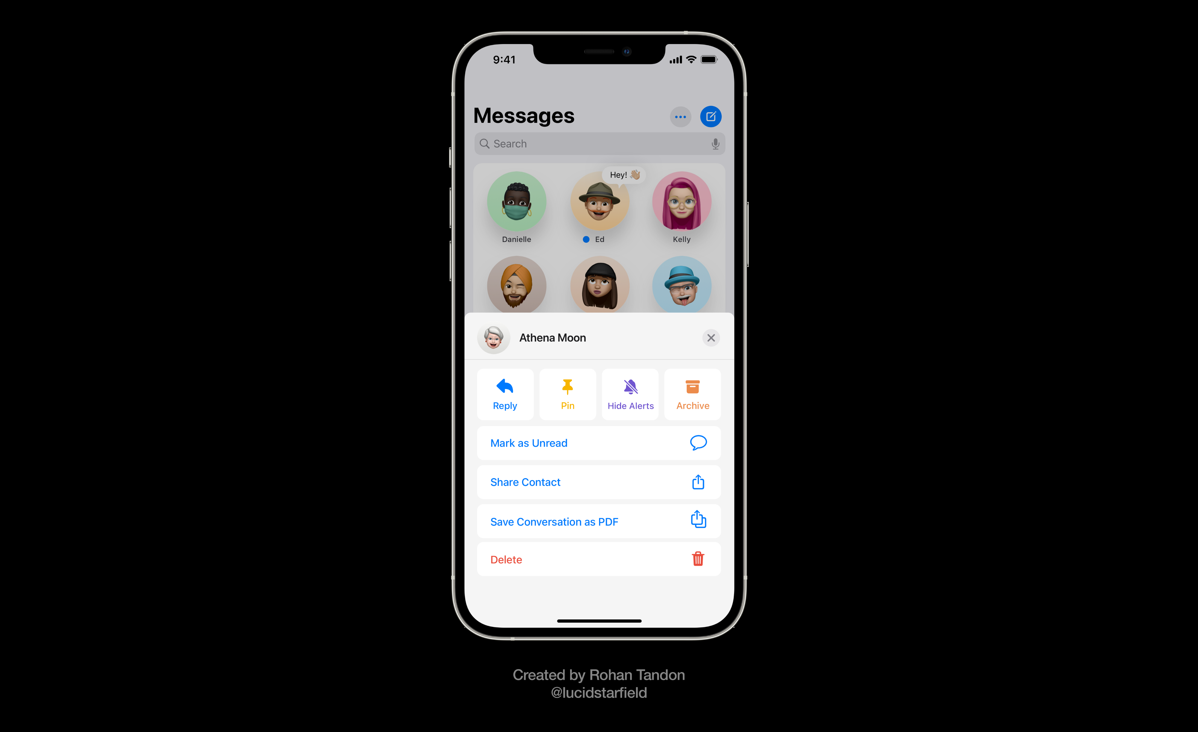 iOS 15 Aurora imagines an all-new menu in Messages