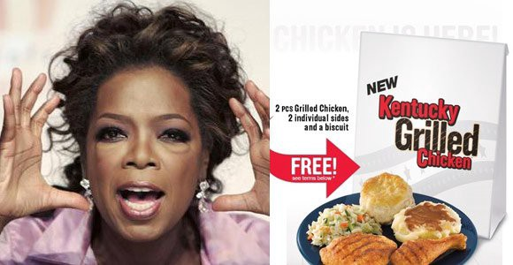 The ad for a free KFC meal for Oprah's viewers