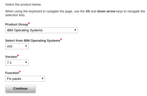 Updating IBM AIX Technology level and Service Pack level