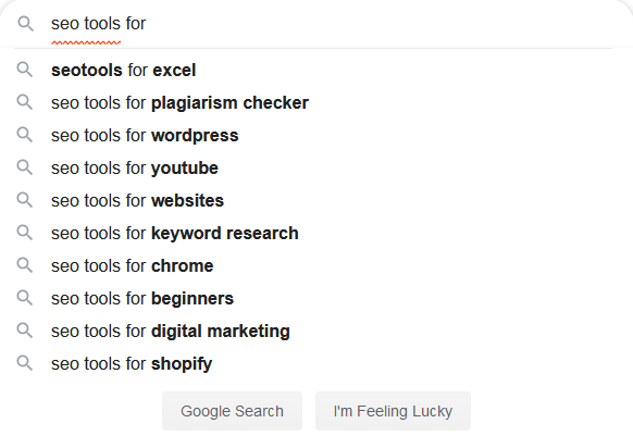 how to use google search for seo