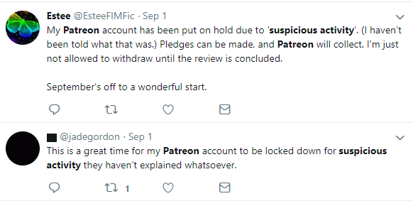 "Patreon is Ignoring Their Users, Claiming ""Suspicious Activity"""